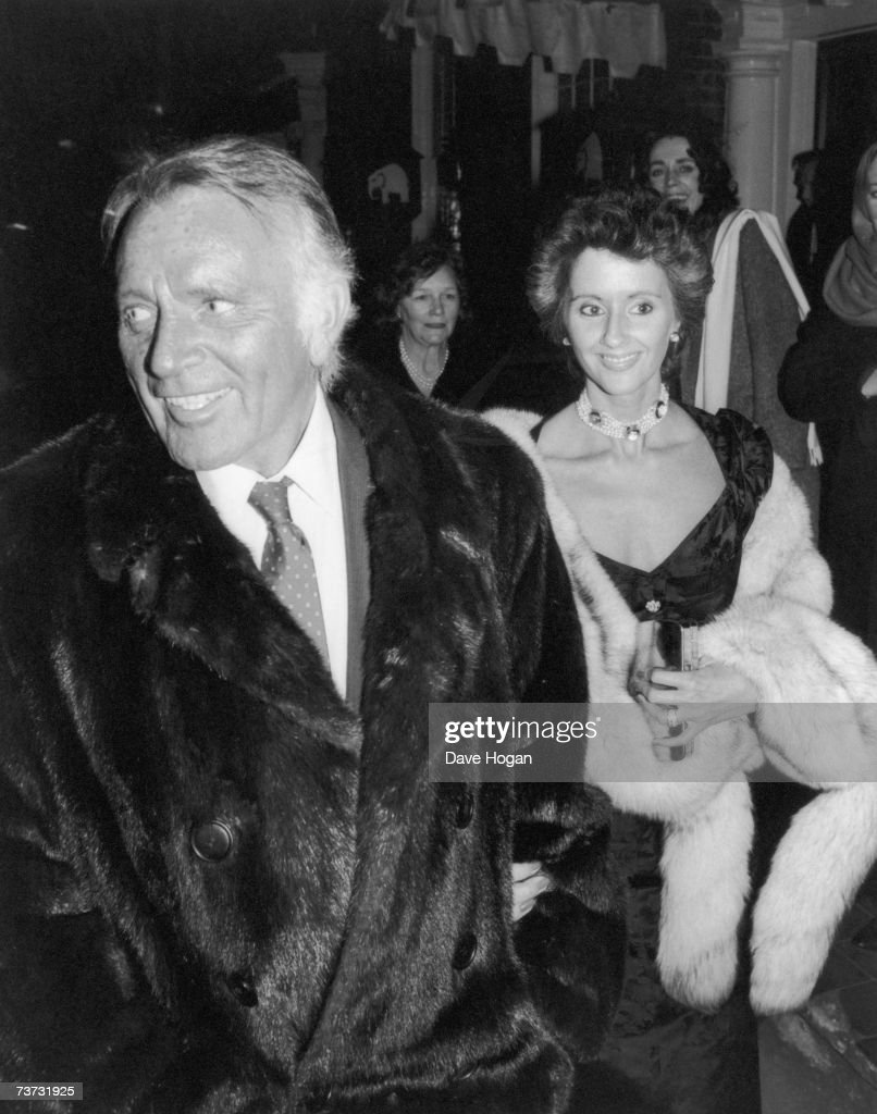 Welsh actor Richard Burton (1925 - 1984) with his fifth wife make up artist Sally Hay, 1984.
