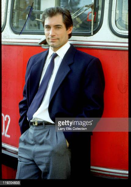 Welsh actor Timothy Dalton on the set of the James Bond film 'The Living Daylights' Great Britain 1986