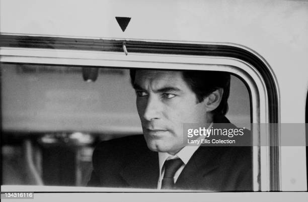 Welsh actor Timothy Dalton on the set of the James Bond film 'The Living Daylights' directed by John Glen UK October 1986