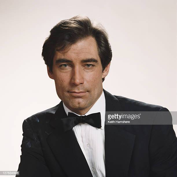 Welsh actor Timothy Dalton poses as 007 in a publicity still for the 1987 James Bond film 'The Living Daylights' 1986