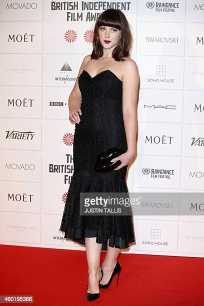 Welsh actress Alexandra Roach poses on the red carpet upon arrival for the British Independent Film Awards in London on December 7 2014 AFP PHOTO /...