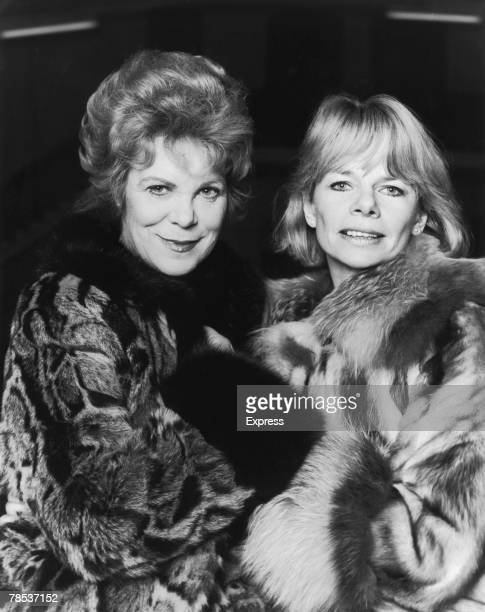 Welsh actress Rachel Roberts with her friend Jill Bennett circa 1979 The two women are costarring in the LWT drama 'The Old Crowd' written by Alan...
