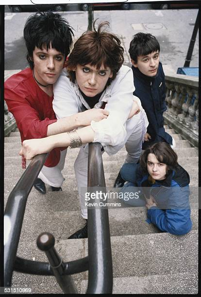 Welsh alternative rock group the Manic Street Preachers Paris 2nd March 1991 Left to right guitarist Richey James Edwards bassist Nicky Wire singer...