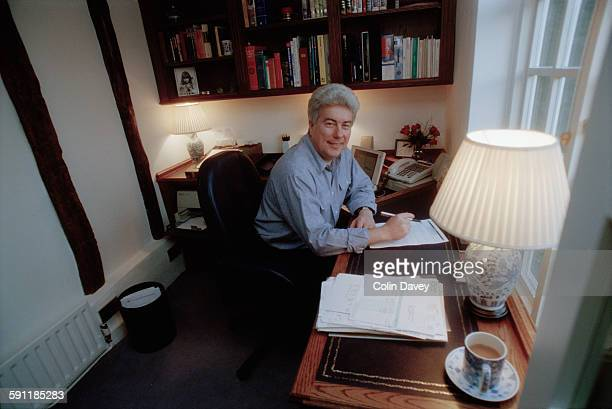 Welsh author Ken Follett at home UK 15th February 1998