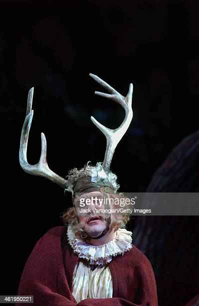 Welsh bassbaritone Bryn Terfel performs during act III of the final dress rehearsal before the season premiere of the Metropolitan Opera/Franco...