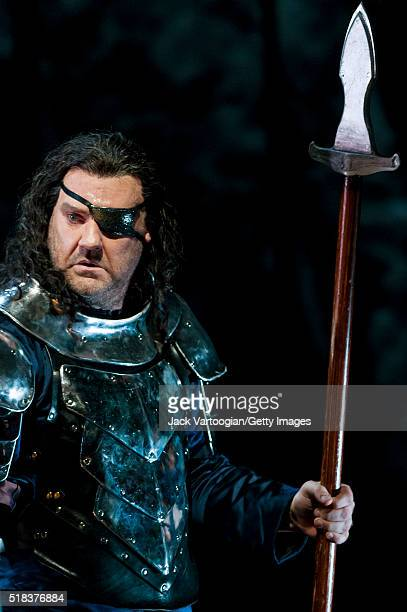 Welsh bassbaritone Bryn Terfel performs during the final dress rehearsal prior to the premiere of the new Metropolitan Opera/Robert LePage production...