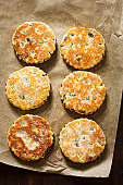 Welsh cake with currants and sugar