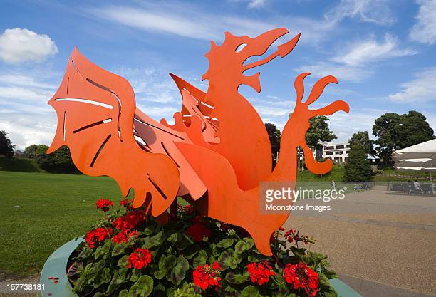 Welsh Dragon in Cardiff, Wales