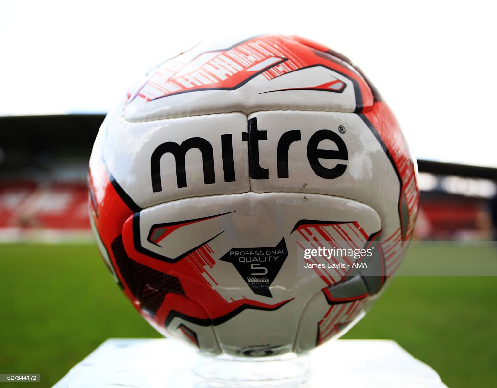 Welsh FA matchball before the JD Welsh Cup Final match between Airbus UK Broughton and The New Saints at Racecourse Ground on May 2, 2016 in Wrexham, Wales.