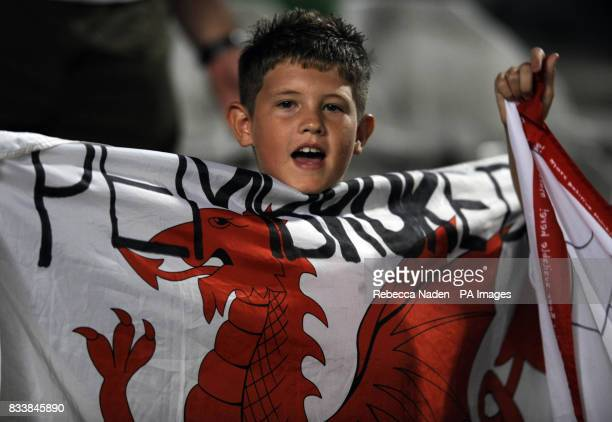 Welsh fan from Pembroke Dock Wales during the UEFA European Championship Qualifying match at Neo GSP Stadium Nicosia Cyprus Picture date Saturday...