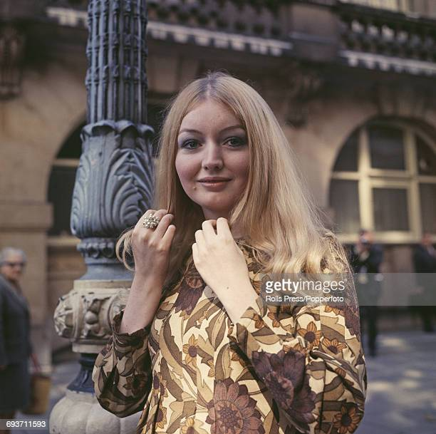 Welsh folk singer Mary Hopkin posed in London after being chosen to represent Great Britain in the 1970 Eurovision Song Contest 22nd September 1969