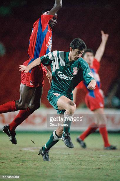 Welsh footballer Ian Rush playing for Liverpool FC in an English Premier League match against Crystal Palace at Selhurst Park London 23rd March 1992...