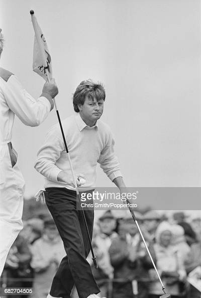 Welsh golfer Ian Woosnam pictured during action to finish in joint third place in the 1986 Open Championship at Turnberry Golf Resort in Scotland in...