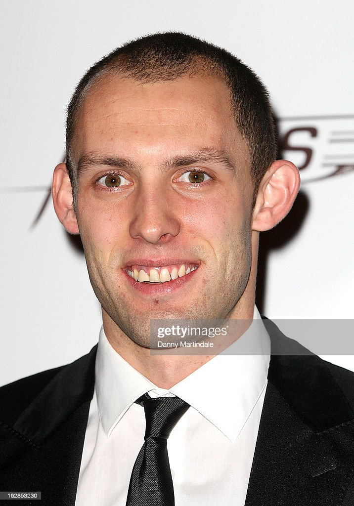 Welsh hurdler Dai Greene attends a dinner and ball hosted by The Cord Club in aid of Wings For Life at One Marylebone on February 28, 2013 in London, England.