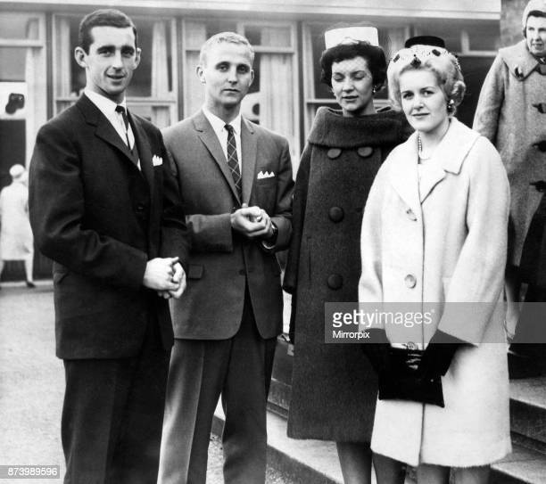 Welsh international Roy Vernon and Scottish international centreforward Alex Young with their wives Roy vernon was Everton captain and Welsh...