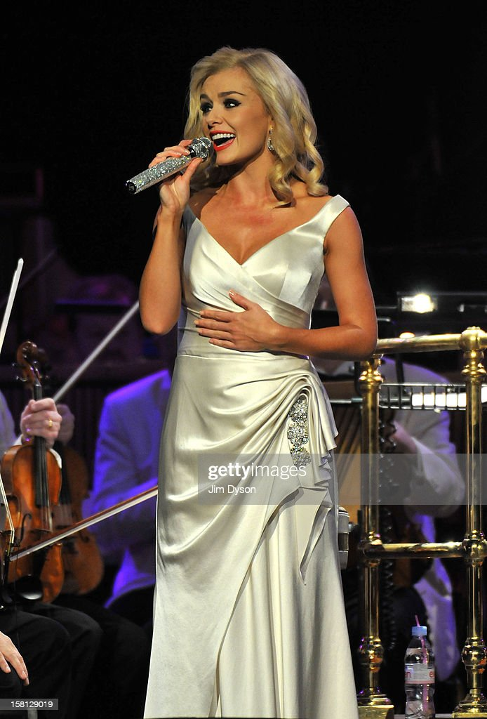 Welsh mezzo-soprano Katherine Jenkins performs live on stage at the Royal Albert Hall, during her 'This Is Christmas' tour on December 10, 2012 in London, England.