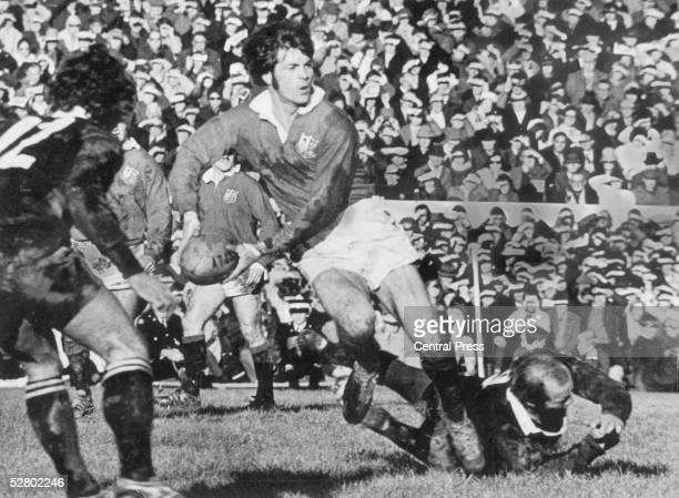 Welsh player Barry John in action during the British Lions' tour of New Zealand 1971