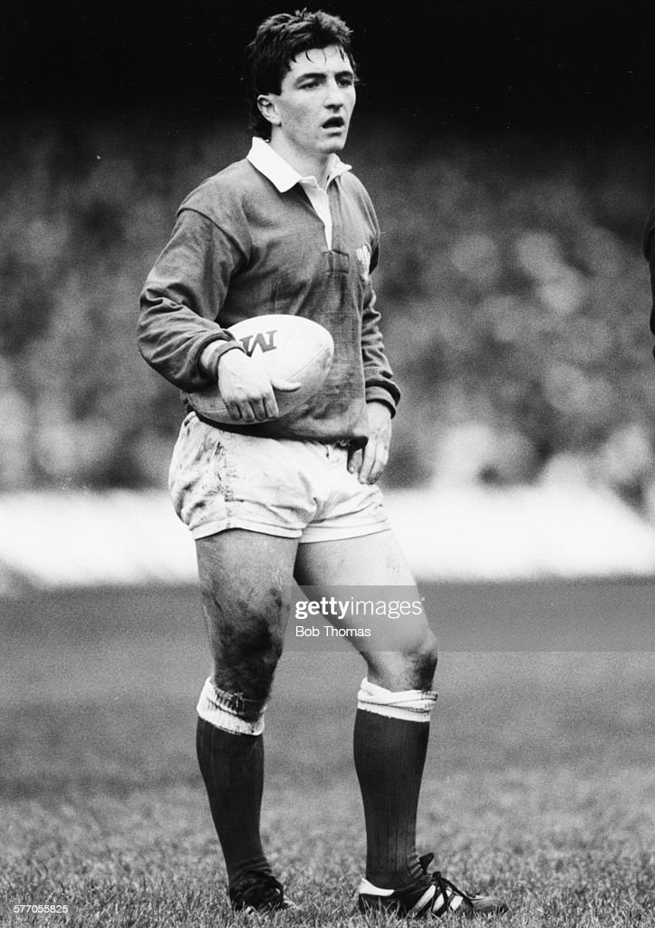 Welsh Rugby Union player and scrumhalf for Wales and Swansea Robert Jones pictured on the pitch during an international game against Scotland at...