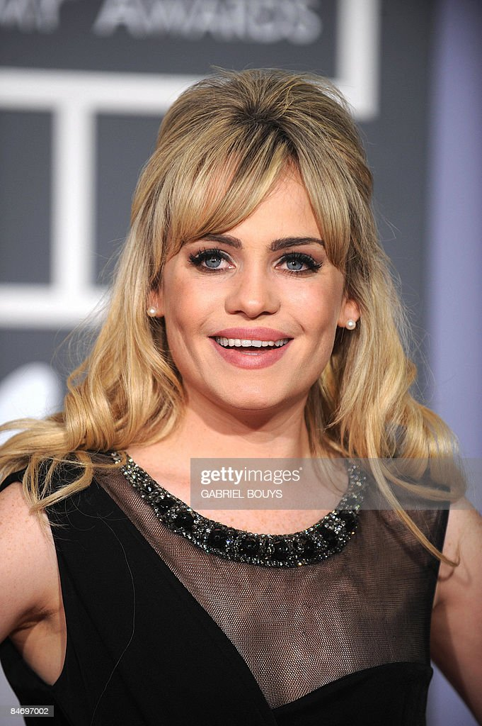 Welsh singer Duffy arrives at the 51st Annual Grammy Awards, at the Staples Center in Los Angeles, on February 8, 2009. She is nominated Best New Artist. AFP PHOTO/GABRIEL BOUYS