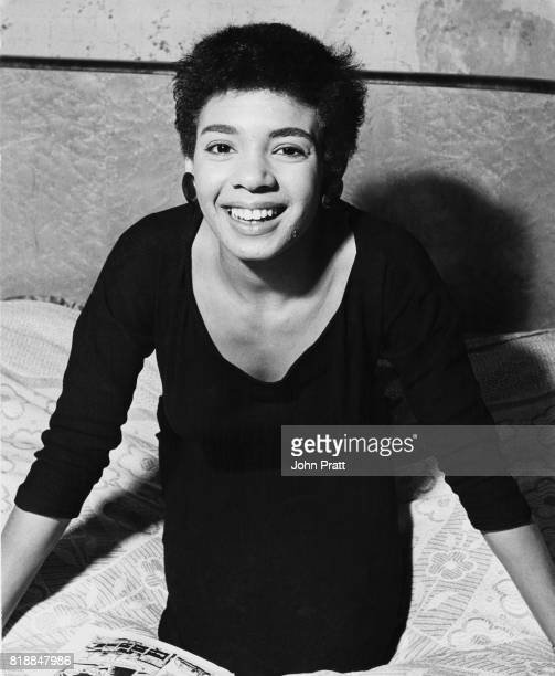 Welsh singer Shirley Bassey at her family home in Tiger Bay Cardiff Wales 1955 She is about to star in 'Such is Life' with Al Read