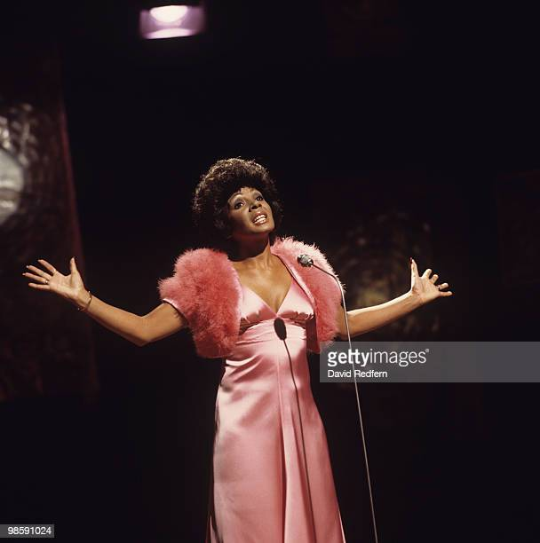 Welsh singer Shirley Bassey performs on stage circa 1971