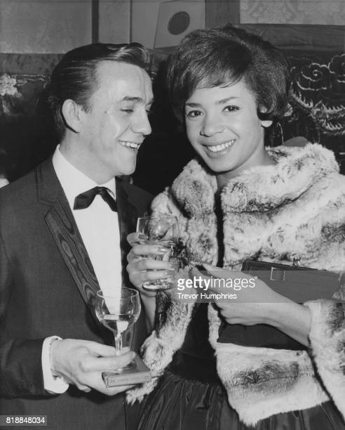 Welsh singer Shirley Bassey with her husband film director Kenneth Hume at the gala premiere of 'Flower Drum Song' in Leicester Square London 22nd...
