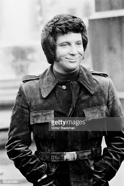 Welsh singer Tom Jones on location for his first acting role 1972