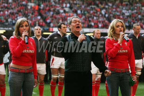 Welsh singers Charlotte Church Max Boyce and Katherine Jenkins