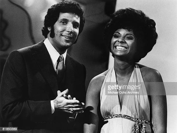 Welsh singers Tom Jones and Shirley Bassey perform on the 19691971 television variety show 'This Is Tom Jones' that aired on ABCTV on January 1 1971...