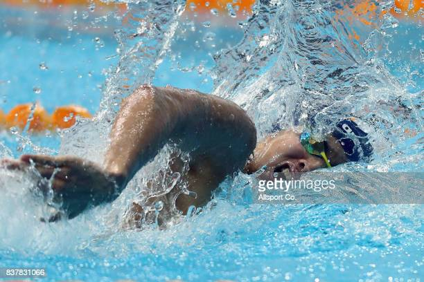 Welson Wee of Malaysia competes during the Men 200m Freestyle Final at the Aquatic Centre as part of the 2017 SEA Games on August 23 2017 in Kuala...