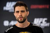 Welterweight Carlos Condit of the United States poses for a photo during an open training session for media at Flex Alphaville Gym on May 28 2015 in...