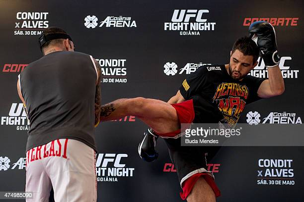 Welterweight Carlos Condit of United States holds an open training session for media at Flex Alphaville Gym on May 28 2015 in Goiania Brazil