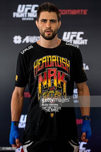 Welterweight Carlos Condit of United States poses for a photo during an open training session for media at Flex Alphaville Gym on May 28 2015 in...