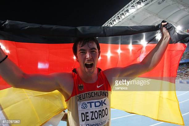 Weltmeister world champion Matthias de Zordo GER IAAF Leichtathletik WM Weltmeisterschaft in Daegu Sudkores 2011 IAAF world Championship athletics in...