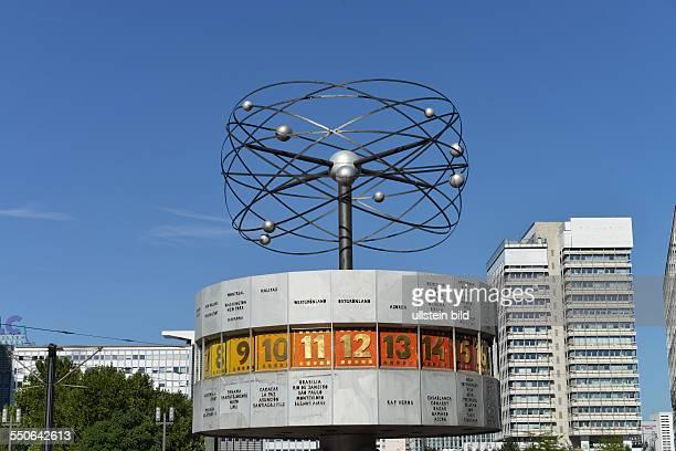 Weltzeituhr Alexanderplatz Berlin Deutschland