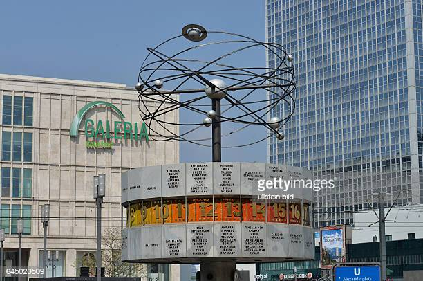 Weltzeituhr Alexanderplatz Mitte Berlin Deutschland