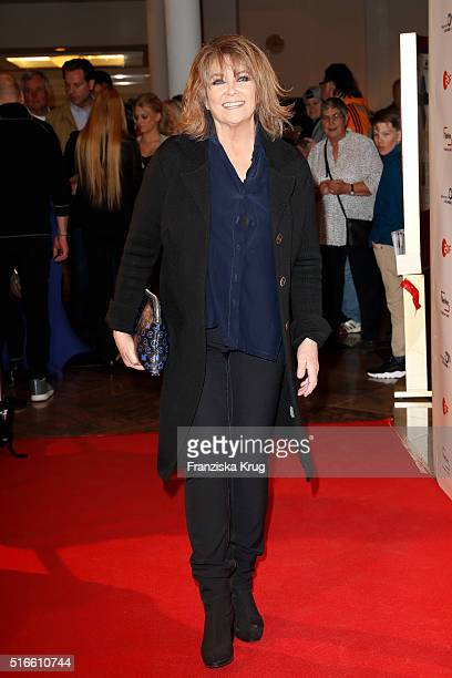 Wencke Myhre attends the TV show 'Willkommen bei Carmen Nebel' on March 19 2016 in Magdeburg Germany
