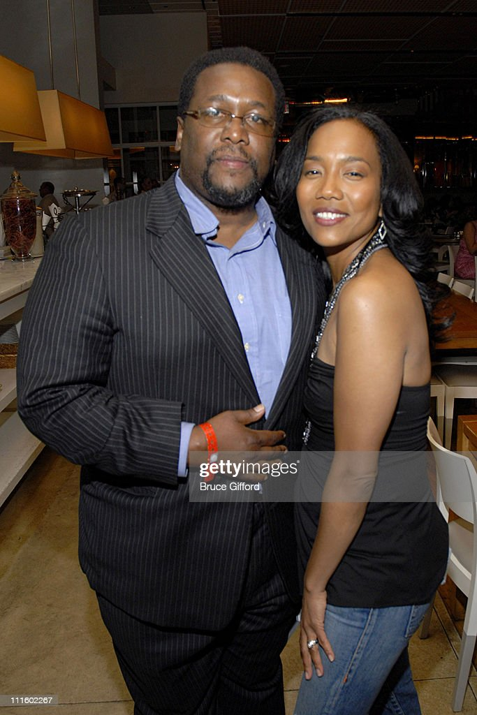 Wendell Pierce and Sonja Sohn during De La Hoya vs Mayweather HBO Green Room in Las Vegas Nevada United States