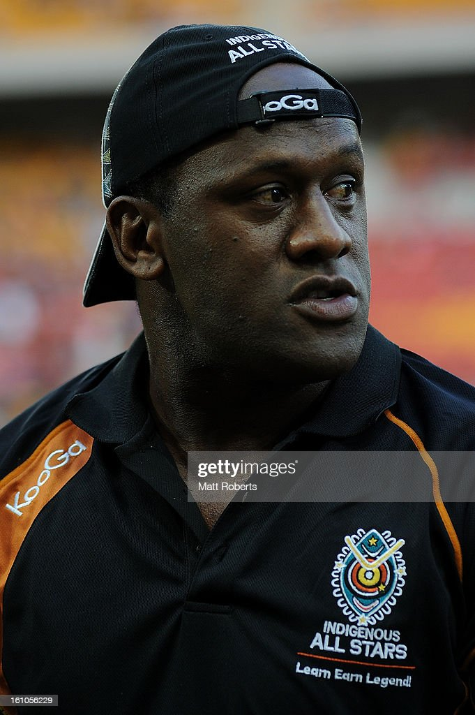 Wendell Sailor looks on before the NRL All Stars Game between the Indigenous All Stars and the NRL All Stars at Suncorp Stadium on February 9, 2013 in Brisbane, Australia.