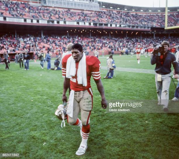 Wendell Tyler of the San Francisco 49ers leaves the field following a National Football League game against the Kansas City Chiefs played on November...
