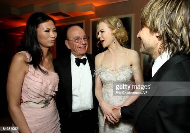 Wendi Deng Chairman of News Corp Rupert Murdoch actress Nicole Kidman and musician Keith Urban attend the 2009 Vanity Fair Oscar party hosted by...