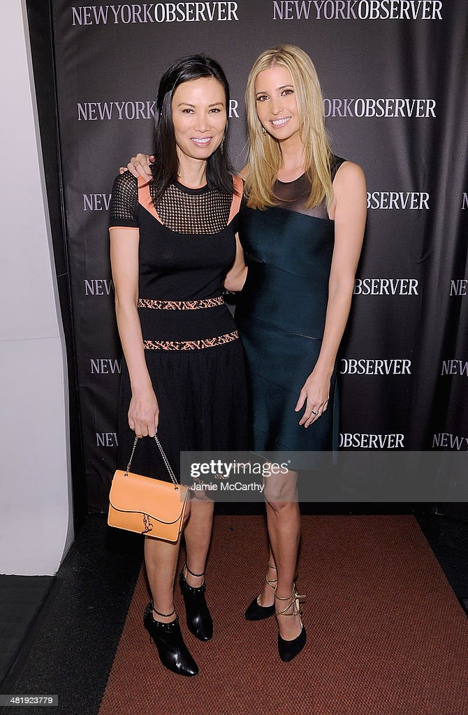 Wendi Deng Murdoch and Ivanka Trump attend The New York Observer Relaunch Event on April 1, 2014 in New York City.