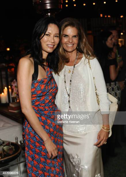 Wendi Deng Murdoch and journalist Maria Shriver attend GENETIC x Liberty Ross Launch on August 22 2014 in Beverly Hills California