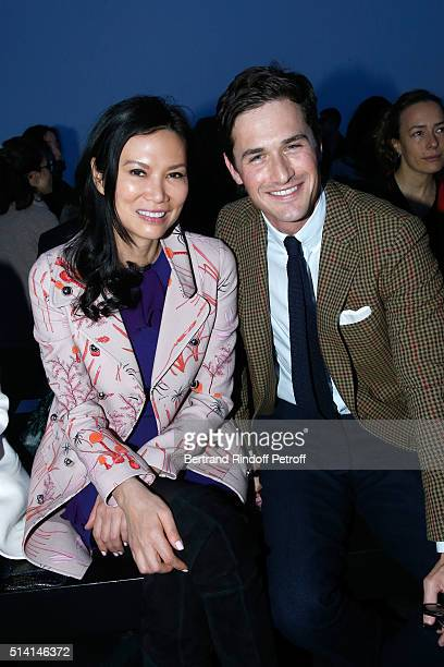 Wendi Deng Murdoch and Violonist Charlie Siem attend the Giambattista Valli show as part of the Paris Fashion Week Womenswear Fall/Winter 2016/2017...
