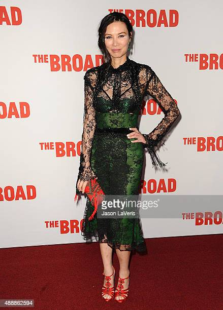 Wendi Deng Murdoch attends the Broad Museum black tie inaugural dinner at The Broad on September 17 2015 in Los Angeles California