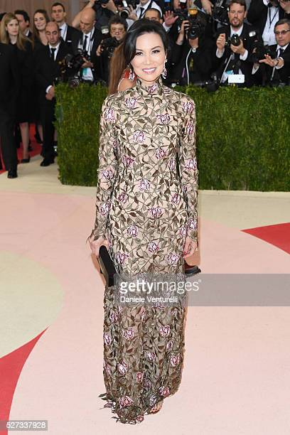 Wendi Deng Murdoch attends the 'Manus x Machina Fashion In An Age Of Technology' Costume Institute Gala at Metropolitan Museum of Art on May 2 2016...