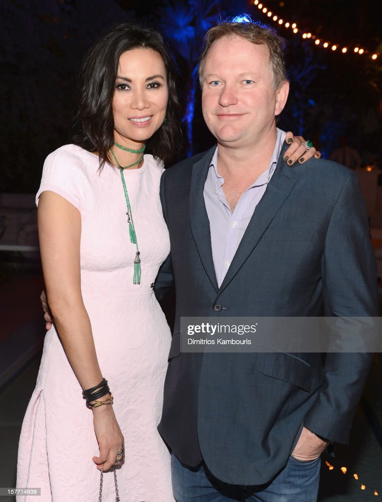 Wendi Murdoch and Founder of Soho House <a gi-track='captionPersonalityLinkClicked' href=/galleries/search?phrase=Nick+Jones+-+Ondernemer&family=editorial&specificpeople=14651213 ng-click='$event.stopPropagation()'>Nick Jones</a> attend a dinner and auction hosted by CHANEL to benefit The Henry Street Settlement at Soho Beach House on December 5, 2012 in Miami Beach, Florida.