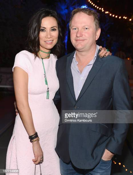 Wendi Murdoch and Founder of Soho House Nick Jones attend a dinner and auction hosted by CHANEL to benefit The Henry Street Settlement at Soho Beach...