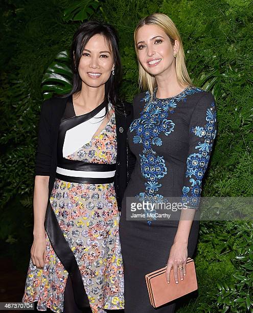Wendi Murdoch and Ivanka Trump attend the Women's Brain Health Initiative Launch at Urban Zen on March 23 2015 in New York City