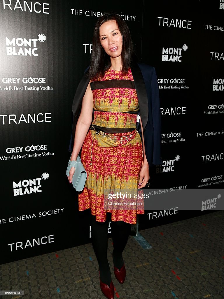 Wendi Murdoch attends The Cinema Society & Montblanc Host Fox Searchlight Pictures' 'Trance' at SVA Theatre on April 2, 2013 in New York City.